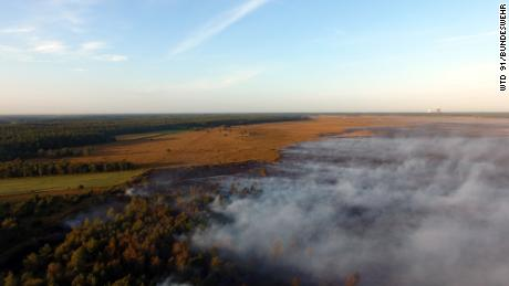 The fire in northern Germany began on September 3.