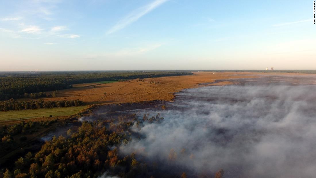 Germany: Rocket tests cause weeks-long moorland fire