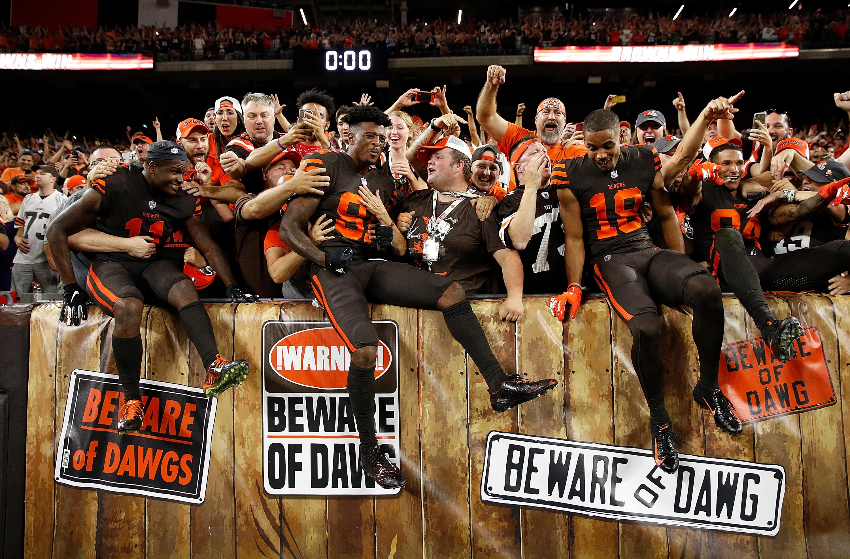 Browns fans open beer fridge after first win CNN Video
