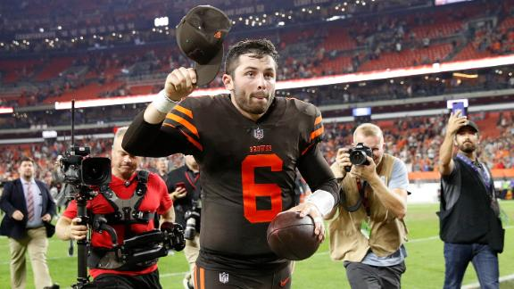 Baker Mayfield's debut performance inspired the Browns to their first win since December 24, 2016.