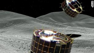 Japan's Hayabusa-2 probe touching down on distant asteroid