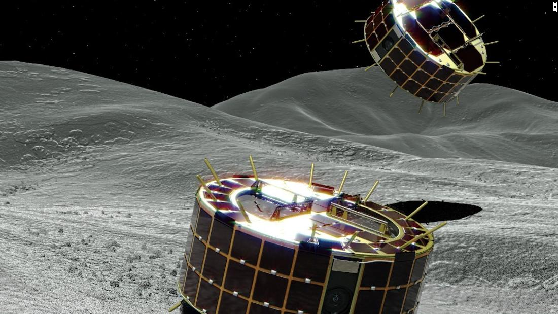 Japan lands robot rovers on an asteroid's surface