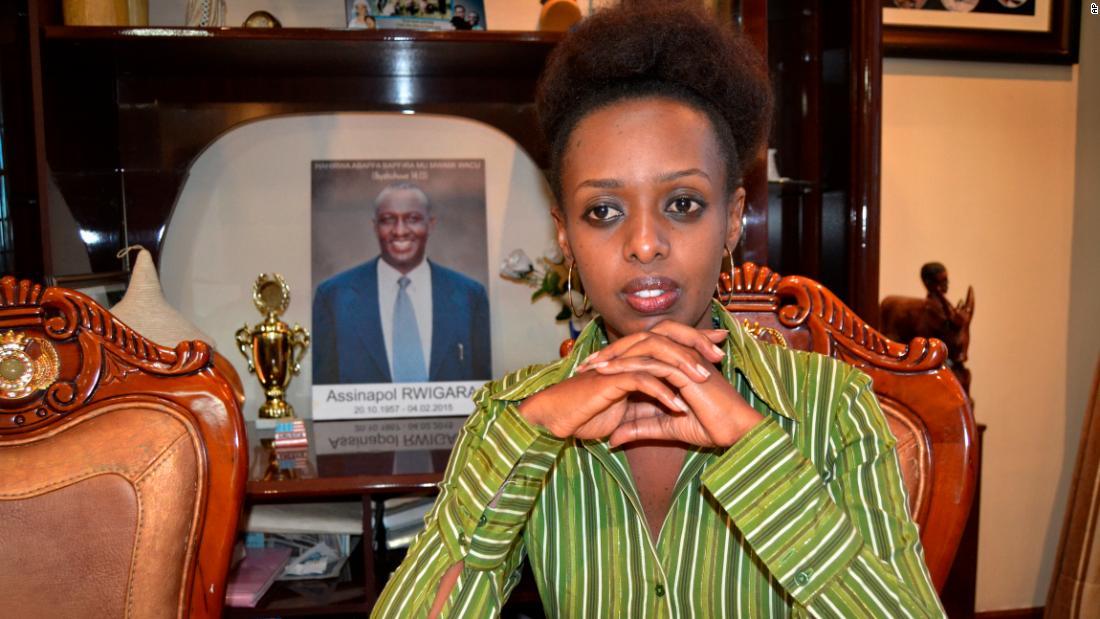 Diane Rwigara at her home in Kigali, prior to her September 2017 arrest.