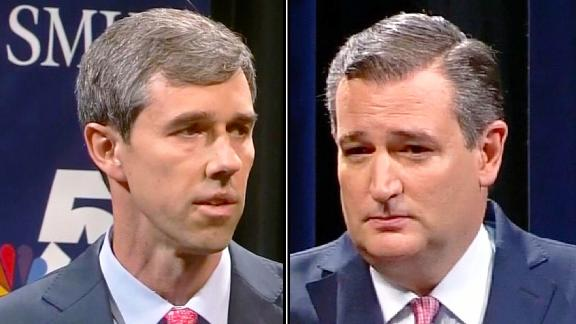 ted cruz beto o'rourke split
