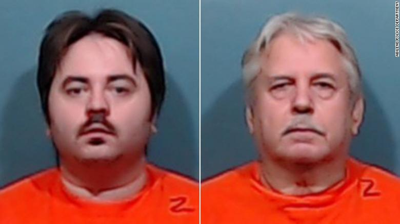 Michael Miller, left, and his father, John Miller, are accused of shooting and killing their neighbor.
