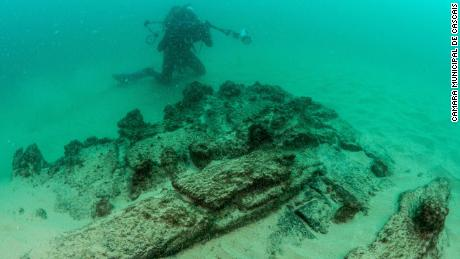 Maritime archaeologists found the wreck off the coast of Cascais, near the Portuguese capital, Lisbon.