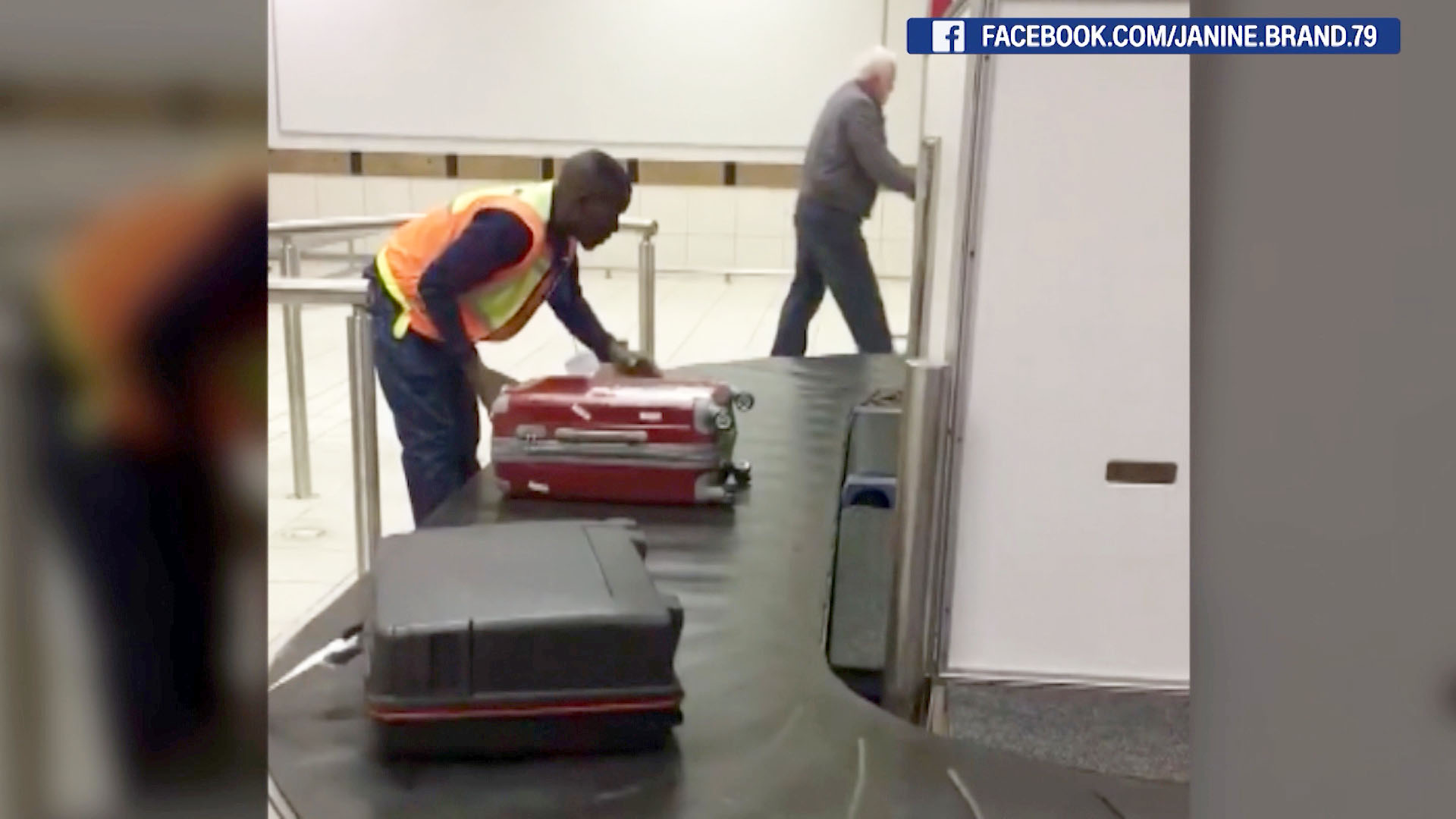 Airport baggage handler goes viral - CNN Video