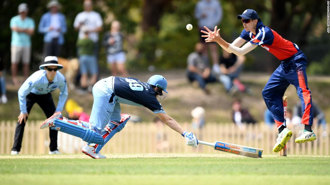 Sutherland batsman Steve Smith runs between wickets during a cricket match against Mosman in Sydney on Saturday, September 22.