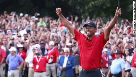 cde991af8381a Tiger Woods wins Tour Championship for first PGA Tour victory since ...
