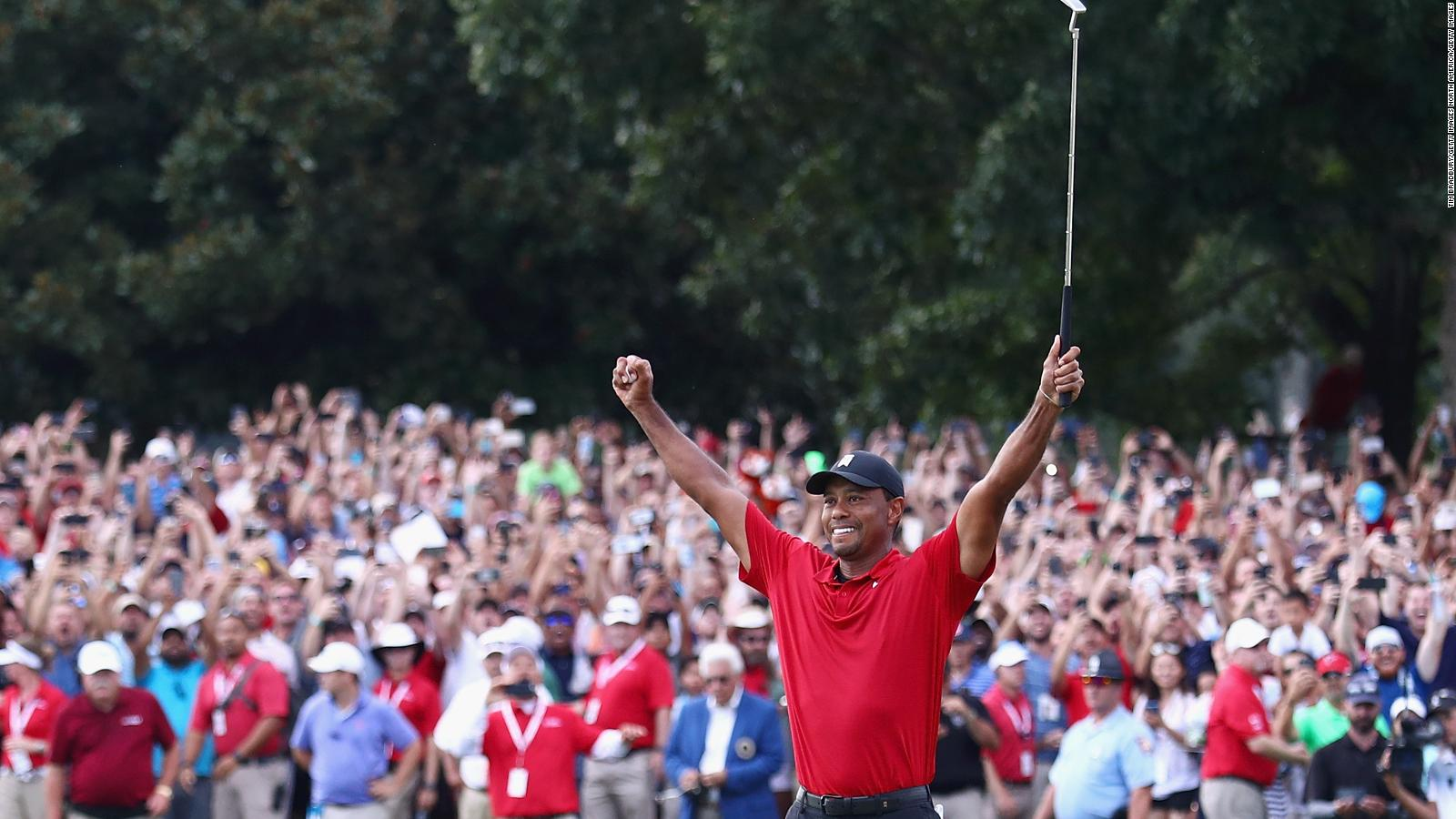 Tiger Woods grabs first tour win in 5 years