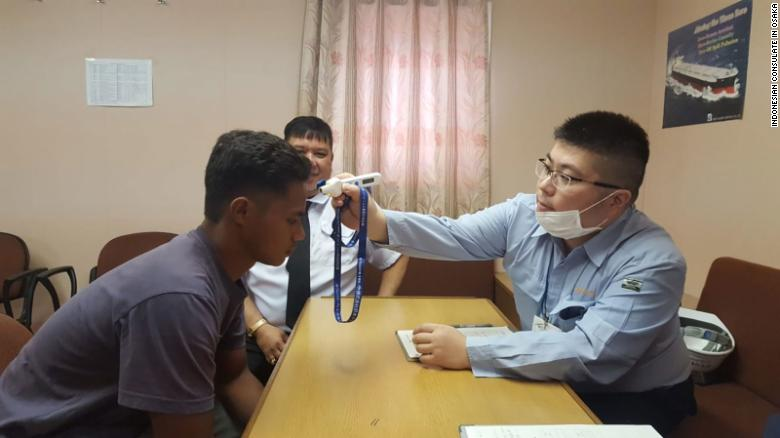 Adilang received medical treatment shortly after arriving at the port of Tokuyama in Japan on September 6.