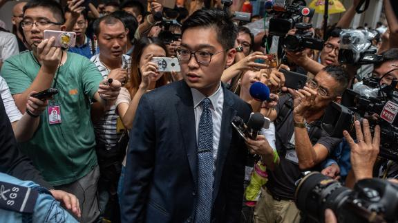 Andy Chan, founder of the Hong Kong National Party, which has been made illegal under the Societies Ordinance, the first time the colonial-era law has ever been used to ban a political party.