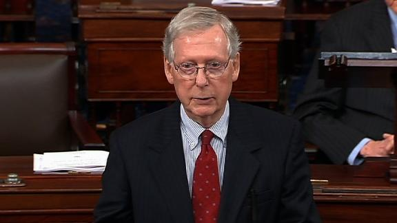 Sen. Mitch McConnell on the Senate floor on 9/42.