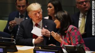 当全球聚集在联合国大会时,特朗普独自站立