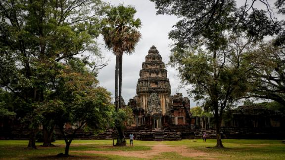 Phimai, Thailand: One of the largest Khmer temples in Thailand, the centerpiece of Phimai Historical Park is the restored ruins of the Prasat Phimai sanctuary.