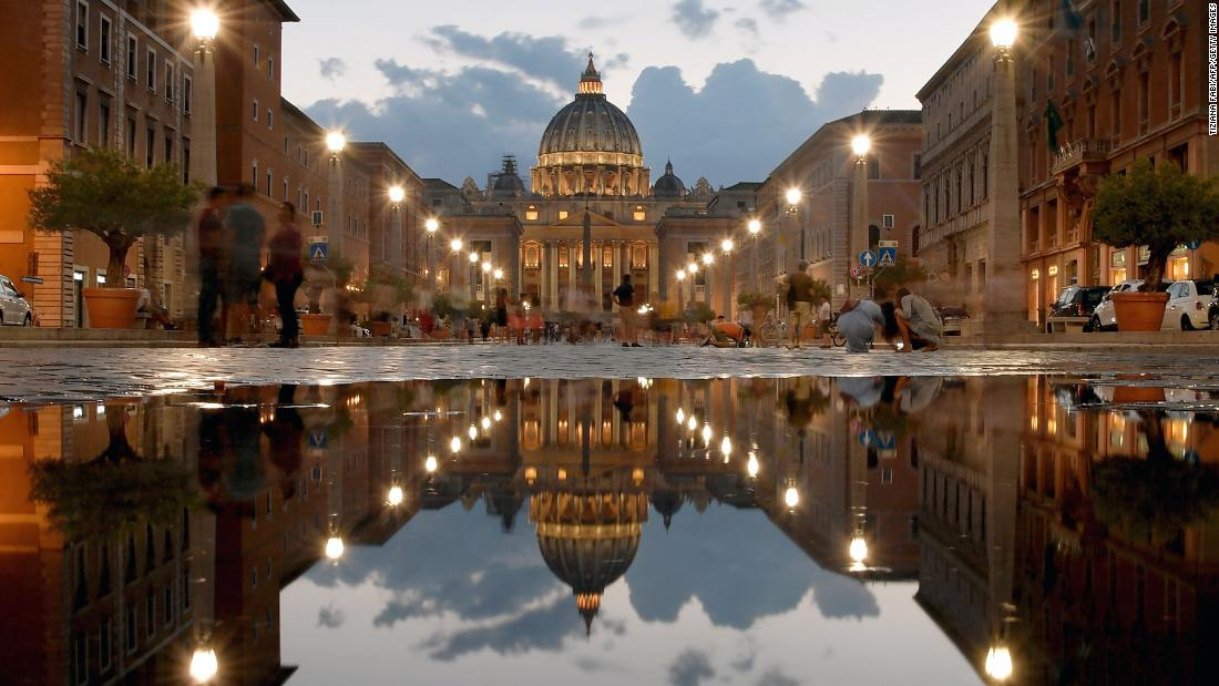 <strong>Rome: </strong>What's more spectacular than St Peter's Basilica? Two St Peter's Basilicas. Photographer Tiziana Fabi caught this reflection in a puddle in September. <br />