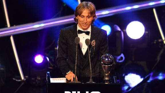 Real Madrid and Croatia midfielder Luka Modric thanked his family, fans and captain of the Croatian 1998 World Cup team Zvonimir Boban after being named  Best FIFA men's player of 2018.
