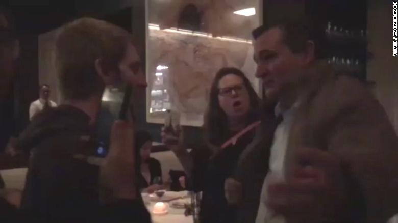 Cruz swarmed by protesters at DC restaurant