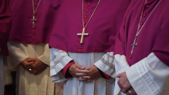 German Bishops take part in the opening mass at the German Bishops