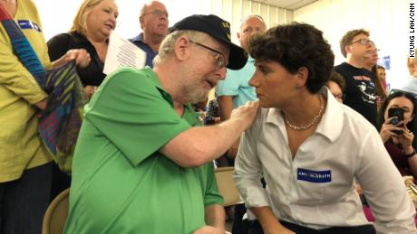 David Hansen, who voted for Trump, tells Democratic Congressional candidate Amy McGrath his story.
