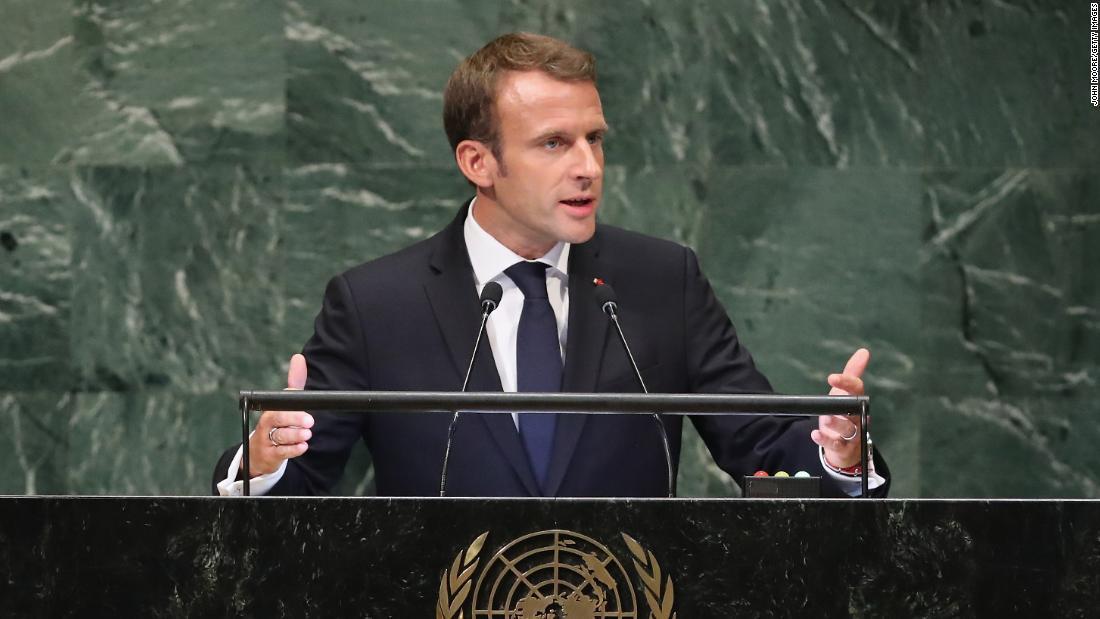 Emmanuel Macron Rebukes Trump S Isolationist Message Cnnpolitics