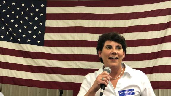 Retired fighter pilot Amy McGrath said she wanted to serve her country again, this time in Congress.