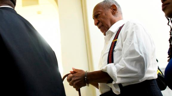 Bill Cosby is taken away in handcuffs after he received a prison sentence of three to 10 years on Tuesday, September 25. In April, the entertainer had been found guilty of drugging and sexually assaulting Andrea Constand 14 years ago.