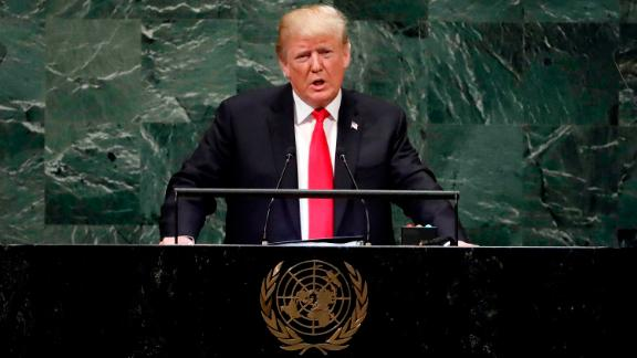 President Donald Trump addresses the 73rd session of the United Nations General Assembly, at U.N. headquarters, Tuesday, Sept. 25, 2018. (AP Photo/Richard Drew)