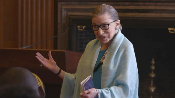 U.S. Supreme Court Justice Ruth Bader Ginsburg talks to high school students in 'RBG'