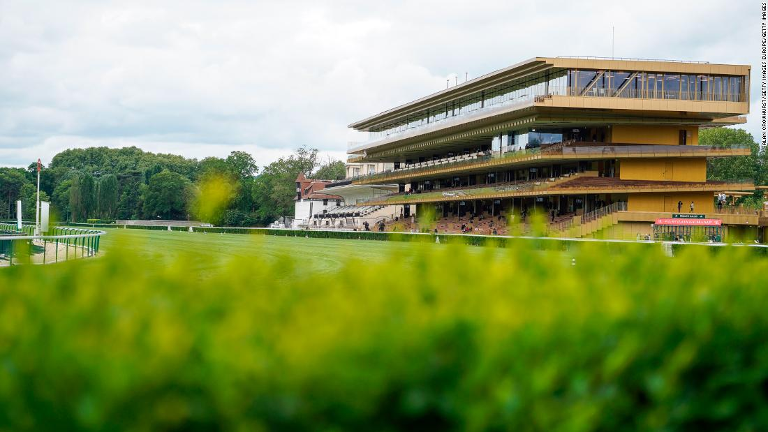 The new grandstand was designed by architect Dominique Perrault, who took his inspiration from galloping horses.