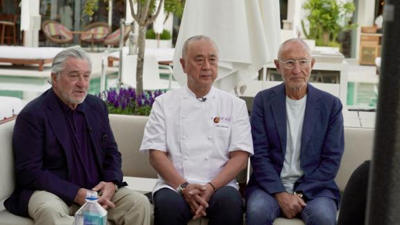 Robert De Niro with his co-founders Nobu Matsuhisa and Meir Teper (left to right).