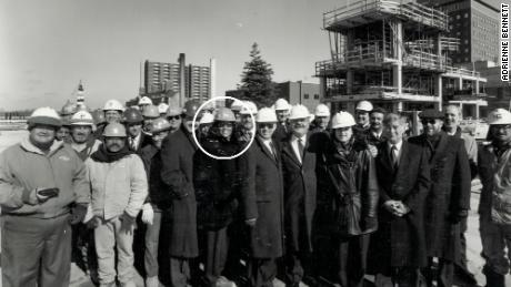 Bennett as a project manager at a construction site.