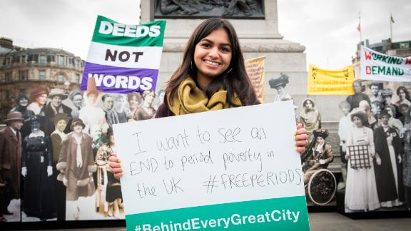 #FreePeriods founder Amika George pledges her #BehindEveryGreatCity commitment.