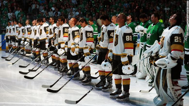 hot sale online 0bd89 452b5 Golden Knights' mission to heal through hockey