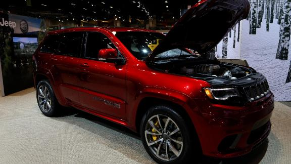 CHICAGO - FEBRUARY 09:  2018 Jeep Grand Cherokee Trackhawk is on display at the 110th Annual Chicago Auto Show at McCormick Place in Chicago, Illinois on February 9, 2018.  (Photo By Raymond Boyd/Getty Images)