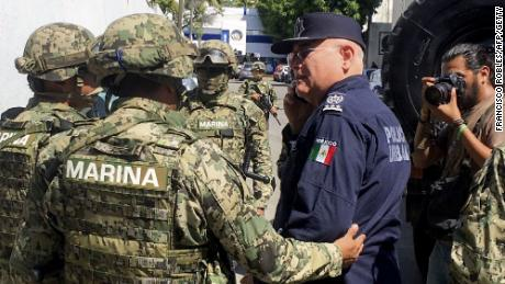 "Mexico's marines are taking part in the ""intervention operations"" of Acapulco's municipal police."
