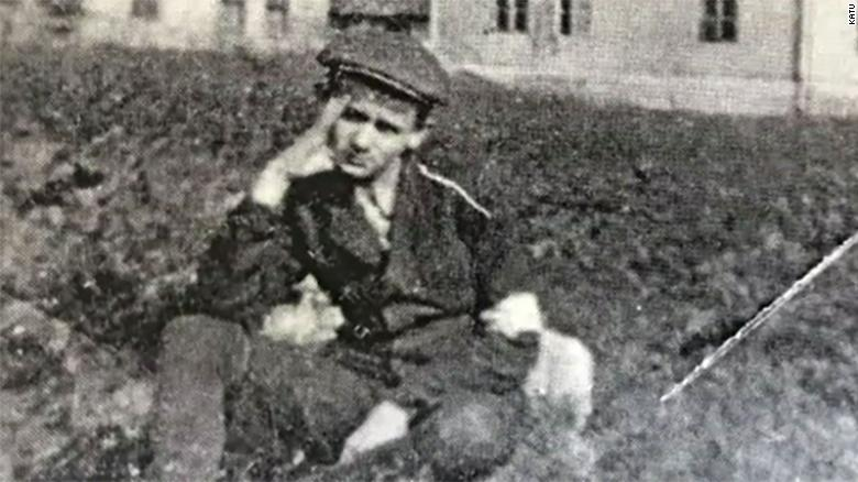 Alter Wiener as a young boy, in a concentration camp.