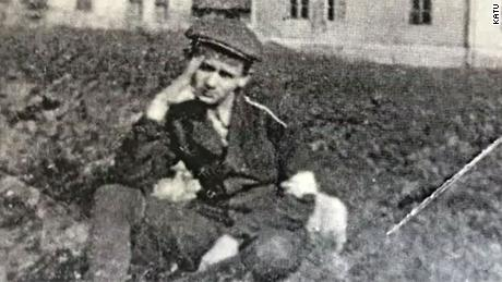 Alter Wiener as a  boy, in a concentration camp.