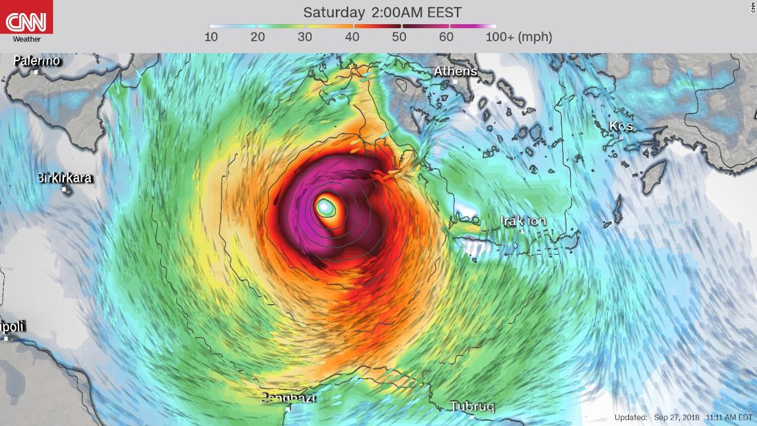'Medicane,' a rare, hurricane-like storm, is on track to hit Europe