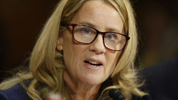 Christine Blasey Ford speaks before the Senate Judiciary Committee hearing on the nomination of Brett Kavanaugh to be an associate justice of the Supreme Court of the United States, on Capitol Hill in Washington, DC, U.S., September 27, 2018. Michael Reynolds/Pool via REUTERS