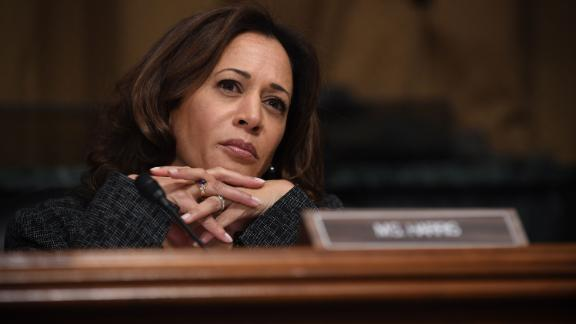 WASHINGTON, DC - SEPTEMBER 27: Sen. Kamala Harris, D-CA, listens as Christine Blasey Ford testifies before the US Senate Judiciary Committee in the Dirksen Senate Office Building on Capitol Hill September 27, 2018 in Washington, DC. A professor at Palo Alto University and a research psychologist at the Stanford University School of Medicine, Ford has accused Supreme Court nominee Judge Brett Kavanaugh of sexually assaulting her during a party in 1982 when they were high school students in suburban Maryland.  (Photo by Saul Loeb/Pool/Getty Images)