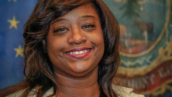 State Rep. Kiah Morris was the only black female legislator in Vermont.