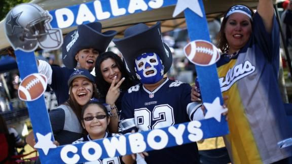 Fans of the Dallas Cowboys tailgate before a game against the New York Giants  outside AT&T Stadium October 19, 2014 in Arlington, Texas.