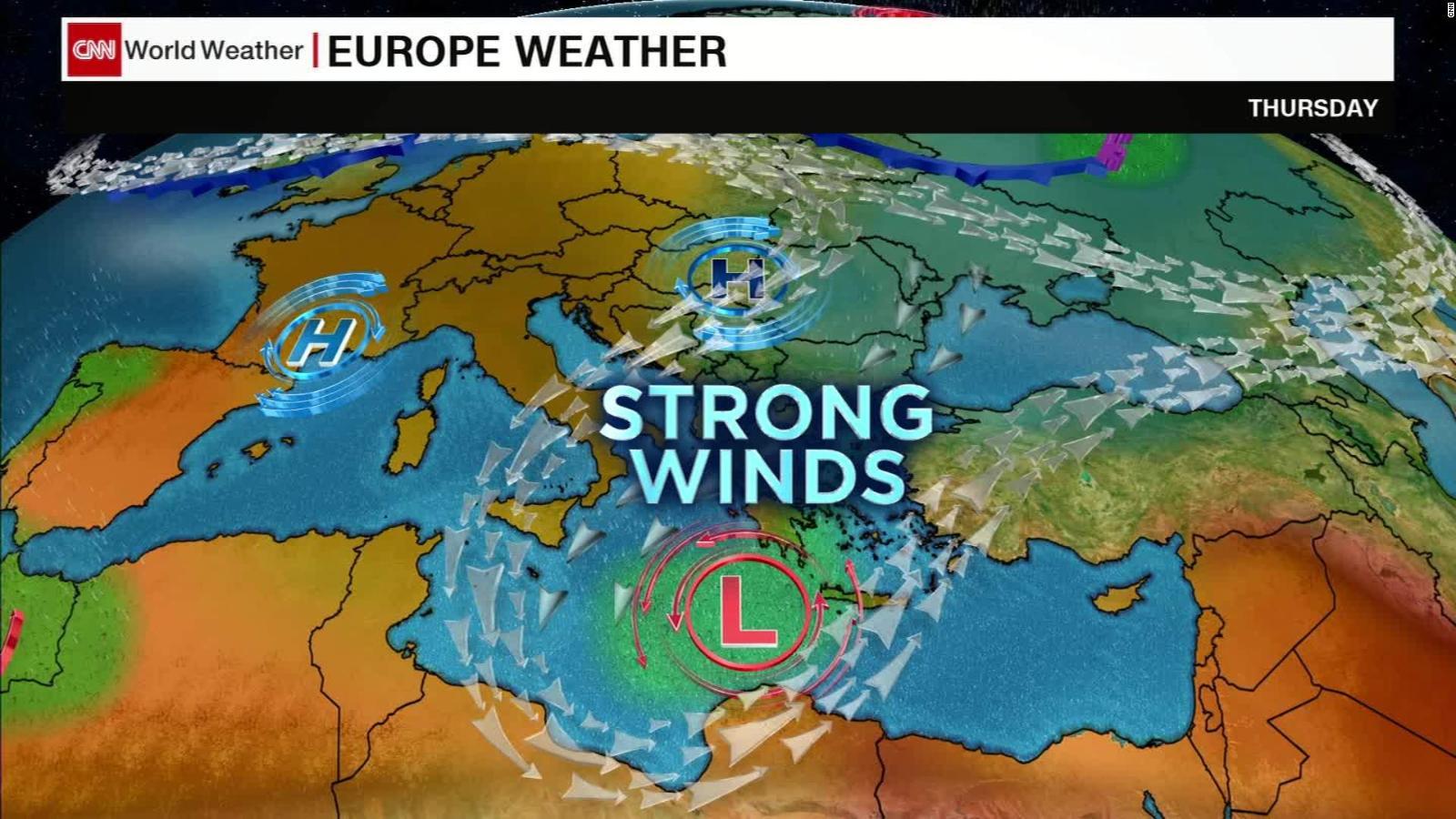 Hurricanes World Map.Zorba A Hurricane Like Storm Lashes Greece As It Barrels Toward