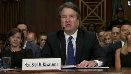 Image result for As vote looms, Kavanaugh makes final argument