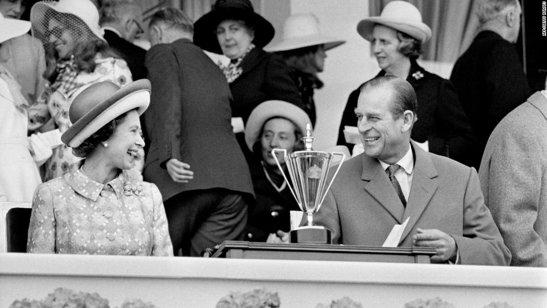 Britain's Queen Elizabeth II and her husband Prince Philip, Duke of Edinburgh, visited Longchamp Racecourse in 1972 during an official visit to France.