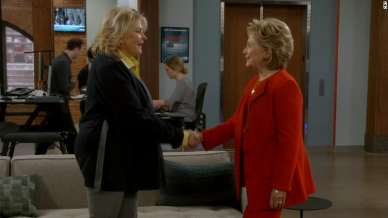 Image result for Hillary Clinton makes surprise appearance on 'Murphy Brown' premiere