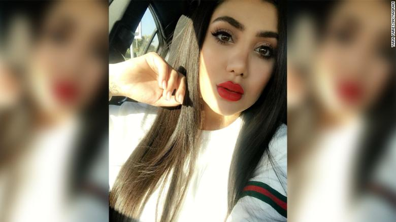 Tara Fares, an Iraqi model and social media icon, who was murdered on Thursday.