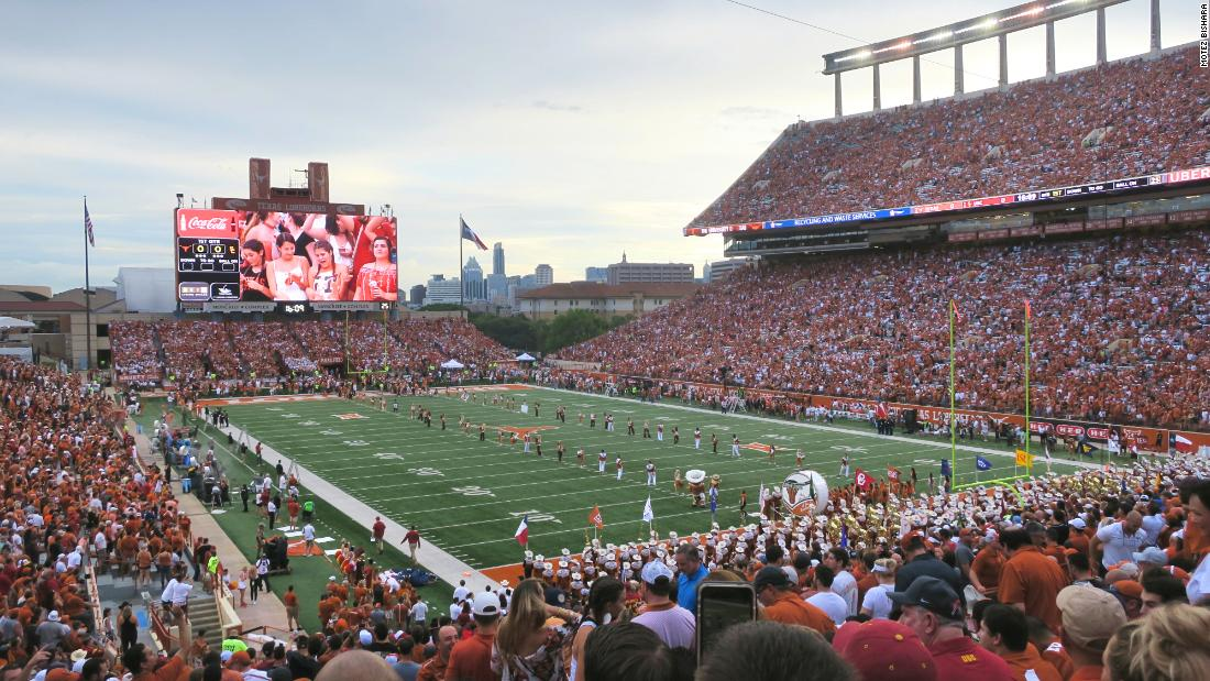 The Texas - USC game on September 15 boasted a record attendance of 103, 507 at Darrell K Royal --Texas Memorial Stadium. But many fans opted to carry on tailgating and watch the matchup on outdoor screens.