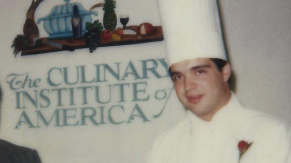 Mitchell, pictured after graduating from the Culinary Institute of America.